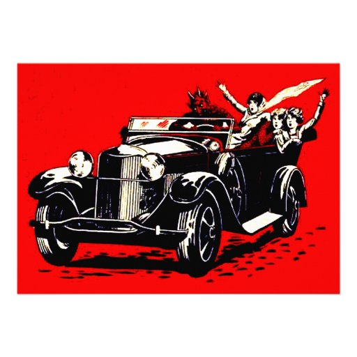 Red Krampus Kidnapping Women Car Personalized Announcements