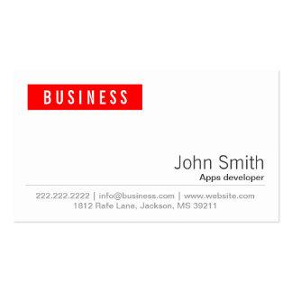 Red Label Apps developer Business Card