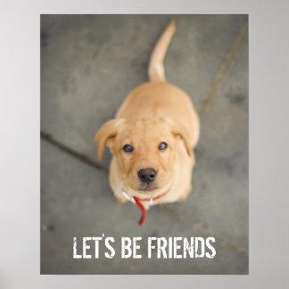 Red Labrador Puppy Poster