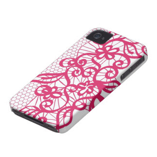Red lace iPhone 4 Case-Mate cases
