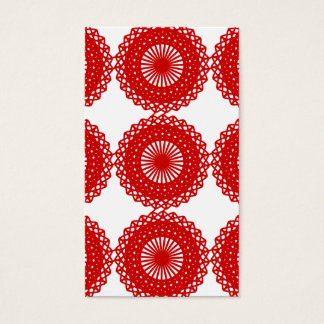 Red Lace Pattern Design. Business Card