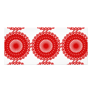 Red Lace Pattern Design Custom Rack Cards