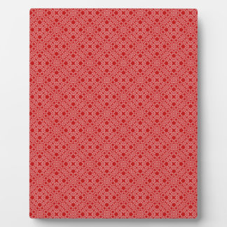 Red Lace Plaque