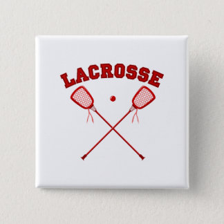 Red Lacrosse Logo 15 Cm Square Badge