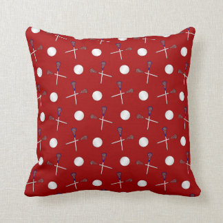 Red lacrosse pattern cushion