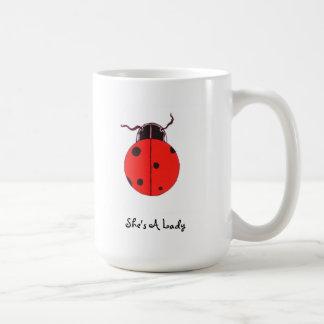 Red Lady Bug Statement Mug