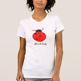 Red Lady Bug Statement Shirt