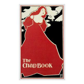 Red Lady The Chap Book 1895 ~ Vintage Cover Poster