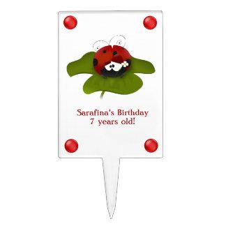 Red Ladybug Birthday Cake Topper