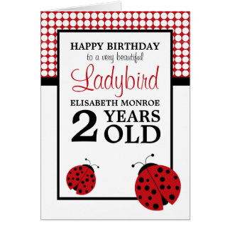 Red Ladybug Children's Birthday Card
