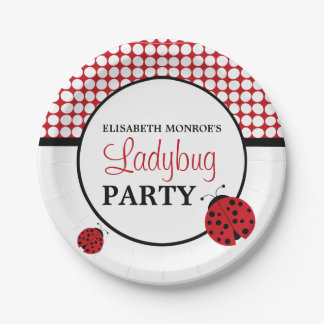Red Ladybug Children's Birthday Party Paper Plate