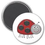 Red Ladybug Fridge Magnets