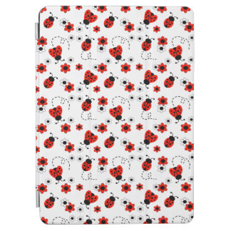 Red Ladybug Lady Bug White Floral Teen Girl iPad Air Cover