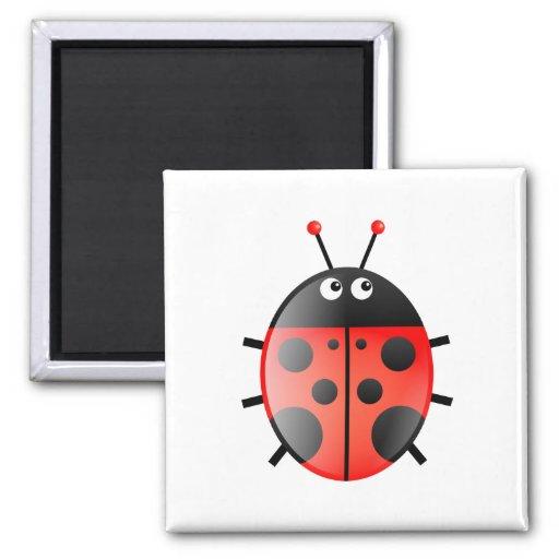 Red Ladybug Magnets
