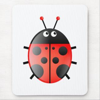 Red Ladybug Mouse Pad