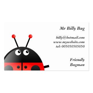 Red Ladybug, Mr Billy Bug, Business Card Templates