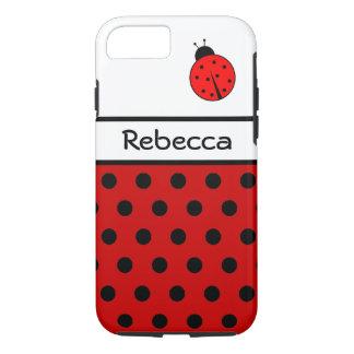 Red Ladybug ~ Named Ladiebug iPhone 8/7 Case