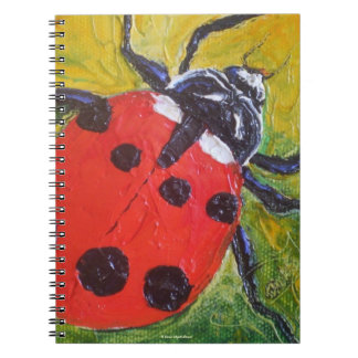 Red Ladybug Notebook
