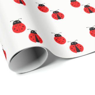 Red Ladybug Pattern Wrapping Paper