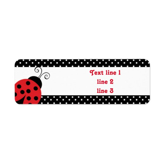 Red Ladybug Polka Dot Address Labels Stickers