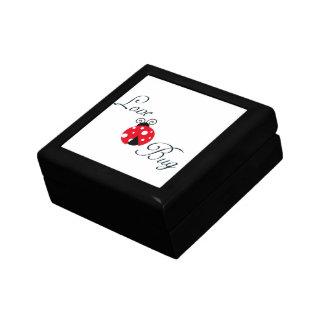 Red  Ladybug Small Square Gift Box