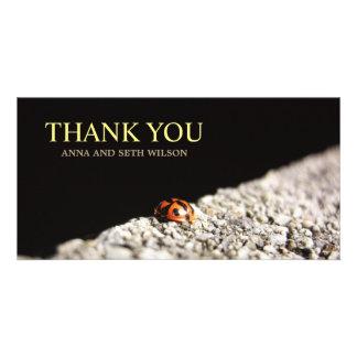 Red Ladybug Thank You Photo Card