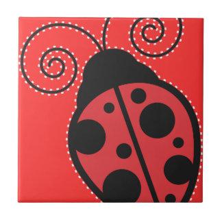Red Ladybug Trivet Tile