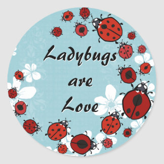 Red Ladybugs Sticker