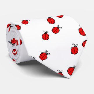 Red ladybugs tie