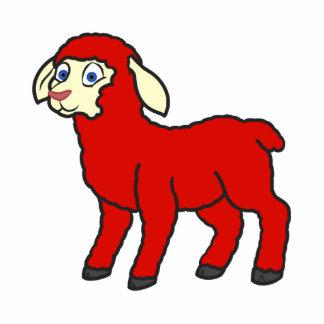 Red Lamb Photo Sculpture Magnet