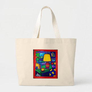 Red Lamp by Piliero Canvas Bags