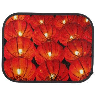 Red lantern at night car mat