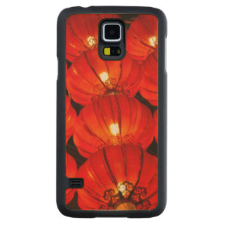 Red lantern at night carved maple galaxy s5 case