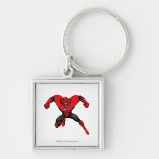 Red Lantern Corps - Rage Jump 1 Silver-Colored Square Key Ring