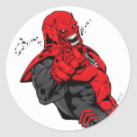 Red Lantern Corps - Rage Leaning 1 Round Stickers