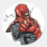 Red Lantern Corps - Rage Leaning 2 Round Sticker