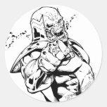 Red Lantern Corps - Rage Leaning 3 Round Sticker