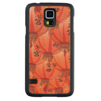 Red lanterns carved maple galaxy s5 case