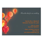 Red Lanterns Contemporary Wedding Save the Date 13 Cm X 18 Cm Invitation Card