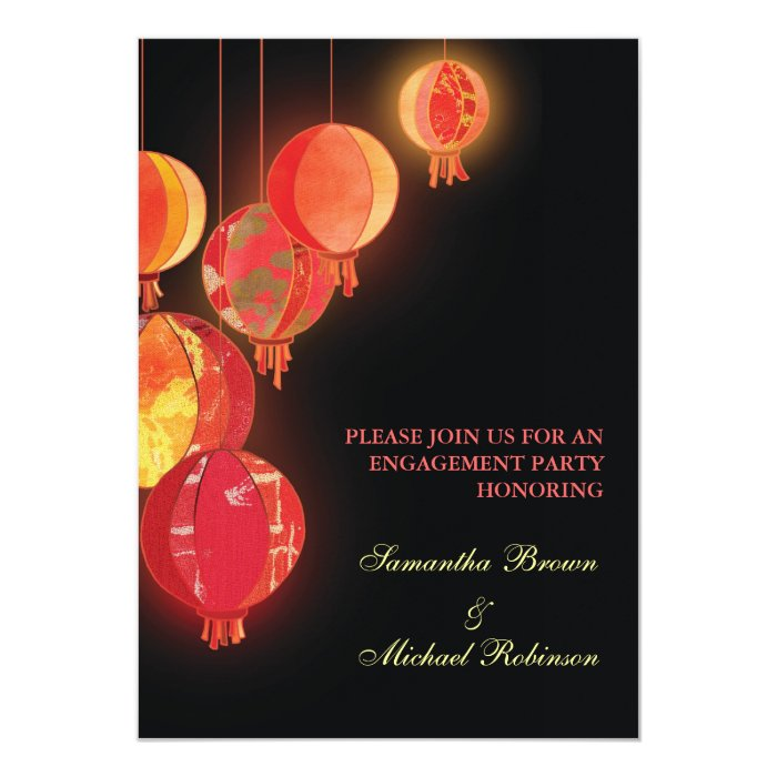 Red Lanterns: Engagement Invitations