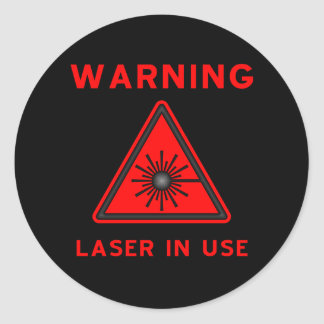 Red Laser Warning Symbol Sticker