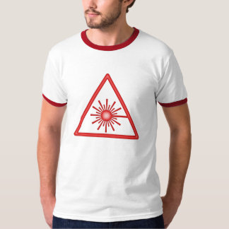 Red Laser Warning T-Shirt