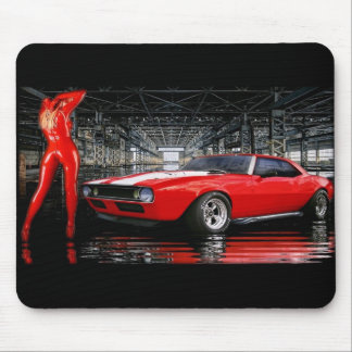 red latex camero mouse pad