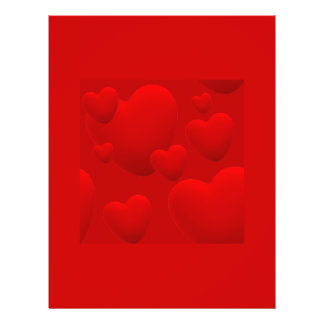 RED LAYERED 3D HEARTS LOVE MOTIVATIONAL SWEETHEART 21.5 CM X 28 CM FLYER