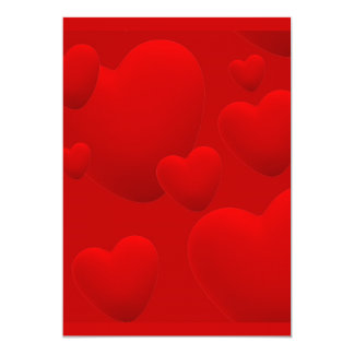 RED LAYERED 3D HEARTS LOVE MOTIVATIONAL SWEETHEART INVITATIONS