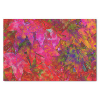Red Leaf Abstract Tissue Paper