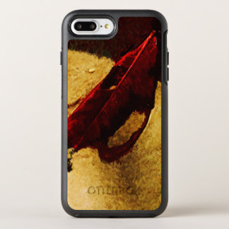 Red Leaf on Beach Abstract Impressionist OtterBox Symmetry iPhone 8 Plus/7 Plus Case