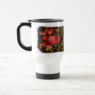 Red Leaf with Spots Stainless Steel Travel Mug