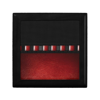 Red Leather Black Texture Small Square Gift Box