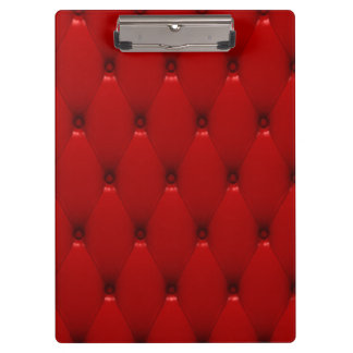 RED LEATHER CLIPBOARD